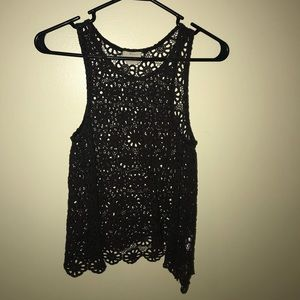 Urban Outfitters Brown Lace Tank